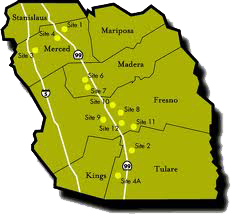 Map of Merced with foreign trade zone 226