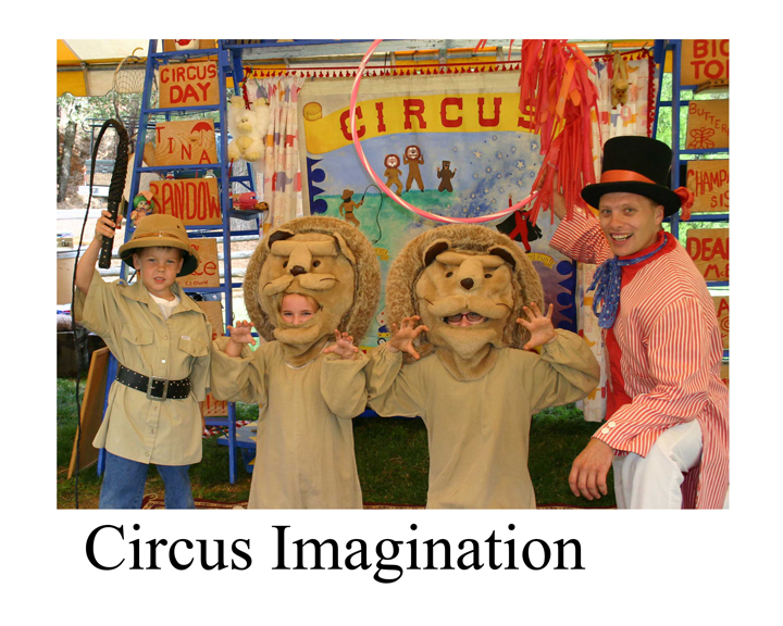 Circus Imagination - two children dressed as lions